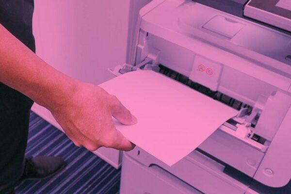 چاپ صورتی دستگاه کپی